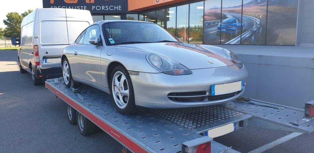 Transport d'une Porsche 996 3,4l