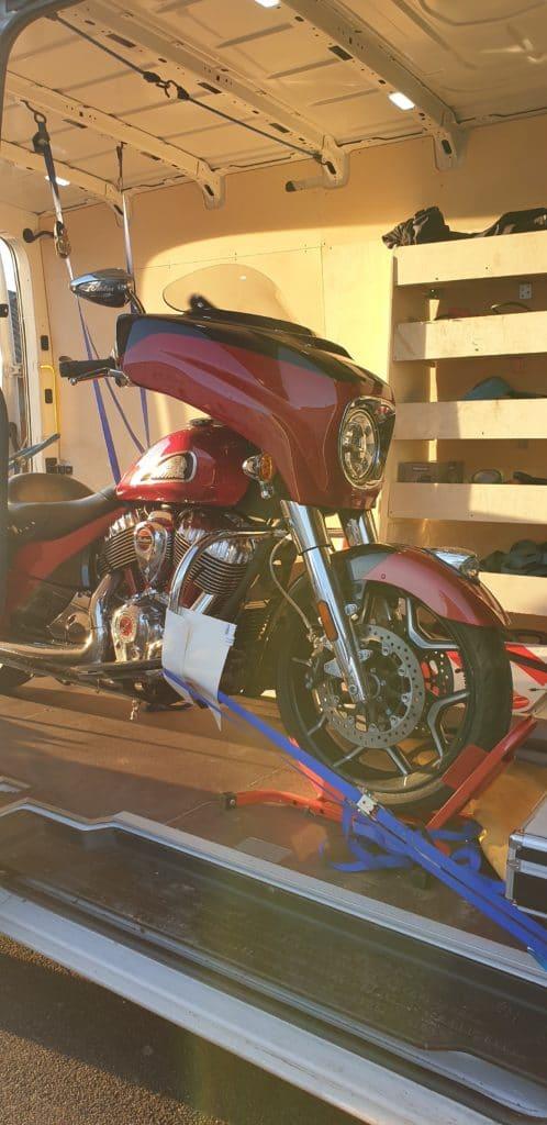 Transport aller-retour Moto Indian Chierftain Montceau les Mines - Limonest