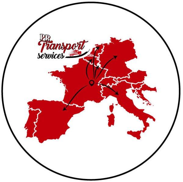 Carte europe transport véhicules